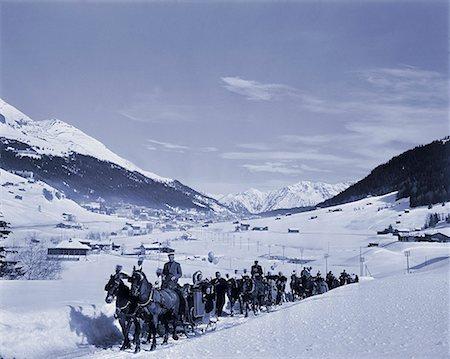 Procession Through Snow Stock Photo - Premium Royalty-Free, Code: 618-01244706