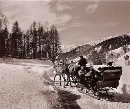 Horsedrawn Sleigh Stock Photo - Premium Royalty-Free, Code: 618-01242143