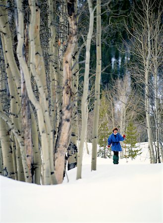 Woman Cross-Country Skiing Through a Forest Stock Photo - Premium Royalty-Free, Code: 618-01411600