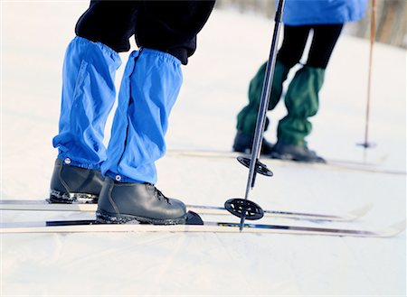 Detail of Cross-Country Skiers Stock Photo - Premium Royalty-Free, Code: 618-01411616