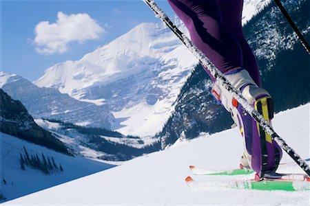 Detail of boot on ski on snow Stock Photo - Premium Royalty-Free, Code: 618-01447789