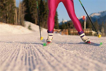 Legs of cross-country skier Stock Photo - Premium Royalty-Free, Code: 618-01447793