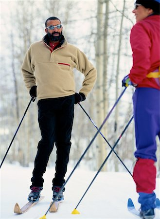 Portrait of Cross-Country Skiers Stock Photo - Premium Royalty-Free, Code: 618-01440507