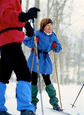 Cross-Country Skiers Resting Stock Photo - Premium Royalty-Free, Code: 618-01440508