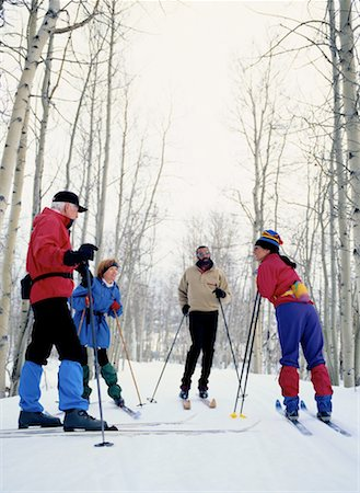 Four Cross-Country Skiers Talking Stock Photo - Premium Royalty-Free, Code: 618-01440509