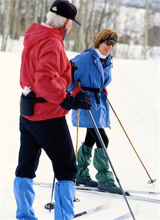 Couple Enjoying a Break from Cross-Country Skiing Stock Photo - Premium Royalty-Free, Code: 618-01440502