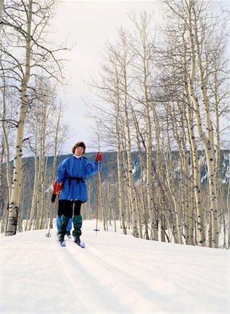 Woman Cross-Country Skiing Stock Photo - Premium Royalty-Free, Code: 618-01440514