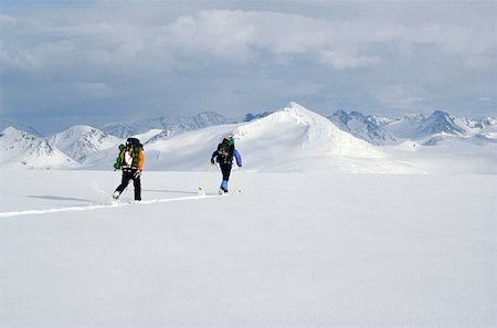 Cross-country Skiing  in a Snowy Landscape Stock Photo - Premium Royalty-Free, Code: 618-01454053