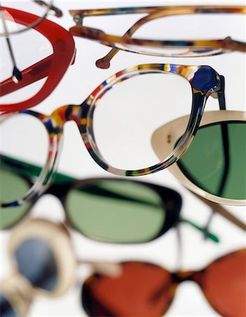 designer backgrounds - Various eyeglasses frames filling frame Stock Photo - Premium Royalty-Free, Code: 618-03609094