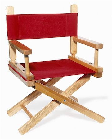 red chair - Wooden red director's chair shot on angle Stock Photo - Premium Royalty-Free, Code: 618-03609101