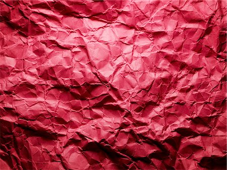 Crumpled red paper. Stock Photo - Premium Royalty-Free, Code: 618-03610159
