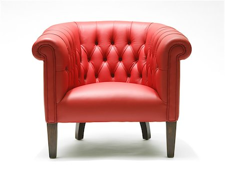 red chair - Bright red leather chair Stock Photo - Premium Royalty-Free, Code: 618-03610483