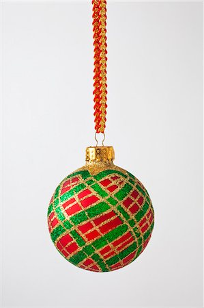 Decorative Christmas ornament against white backgr Stock Photo - Premium Royalty-Free, Code: 618-03630437