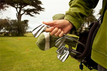 Golfer with Vintage Clubs. Stock Photo - Premium Royalty-Free, Code: 618-03757101