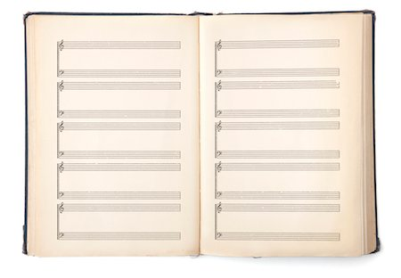 page - Old hymnal book with blank pages. Stock Photo - Premium Royalty-Free, Code: 618-03780416