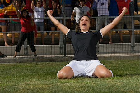 scoring - German female soccer player celebrating goal Stock Photo - Premium Royalty-Free, Code: 618-03848482