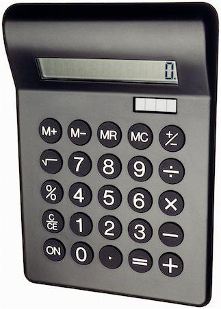 A black solar powered calculator Stock Photo - Premium Royalty-Free, Code: 618-03906602