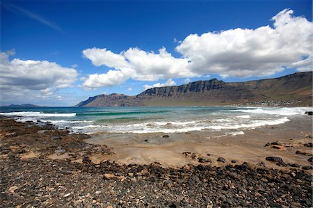 south european - Spain, Canary islands, Lanzarote, beach of Famara Stock Photo - Premium Royalty-Free, Code: 610-05392185