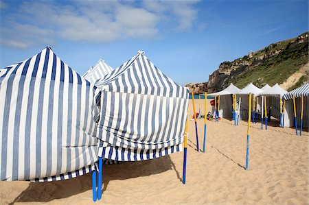 portugal - Portugal, Nazare, huts on the beach Stock Photo - Premium Royalty-Free, Code: 610-05653805