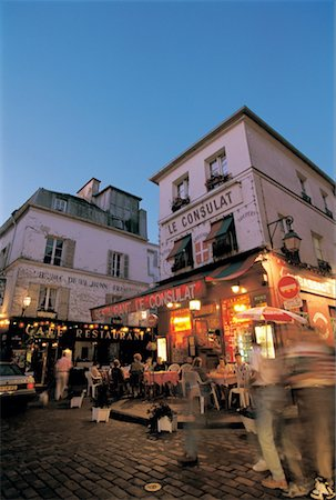 France, Paris, Pavement café by night Stock Photo - Premium Royalty-Free, Code: 610-00257042