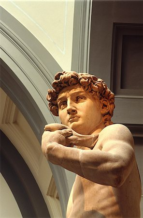 statue of david - Italy, Tuscany, Florence, David (Michelangelo) Stock Photo - Premium Royalty-Free, Code: 610-00799746