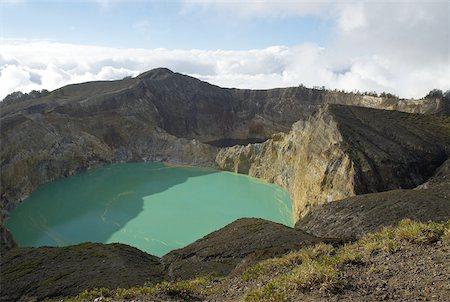 flores - Indonesia, Flores, Kelimutu volcano, crater lake Stock Photo - Premium Royalty-Free, Code: 610-01577367