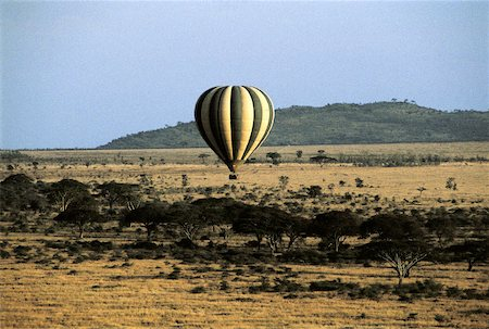 serengeti national park - Tanzania, Serengeti National Park, hot air balloon, aerial view Stock Photo - Premium Royalty-Free, Code: 610-02000544