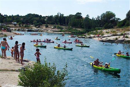 France, Languedoc, Collias, Gardon river Stock Photo - Premium Royalty-Free, Code: 610-03504059