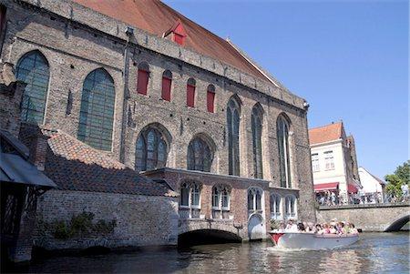 Belgium, Bruges, canal Stock Photo - Premium Royalty-Free, Code: 610-03809188