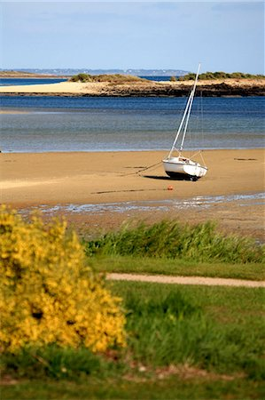France, Brittany, La Trinite sur Mer, boat on the beach Stock Photo - Premium Royalty-Free, Code: 610-03809672