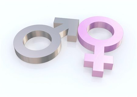 symbol - Feminine and masculine symbols Stock Photo - Premium Royalty-Free, Code: 610-03809902