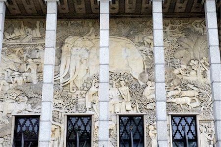 France, Paris, palais de la porte dorée, low relief Stock Photo - Premium Royalty-Free, Code: 610-03810290