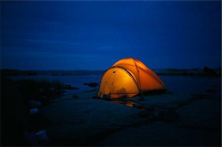 A lit tent. Stock Photo - Premium Royalty-Free, Code: 6102-03748048