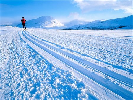 A long-distance skier in northern Sweden. Stock Photo - Premium Royalty-Free, Code: 6102-03748645