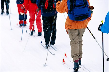 People croos-country skiing in Lapland, Sweden. Stock Photo - Premium Royalty-Free, Code: 6102-03749006