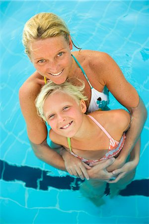 preteen girls bath - Scandinavian mother and son swimming. Stock Photo - Premium Royalty-Free, Code: 6102-03866697