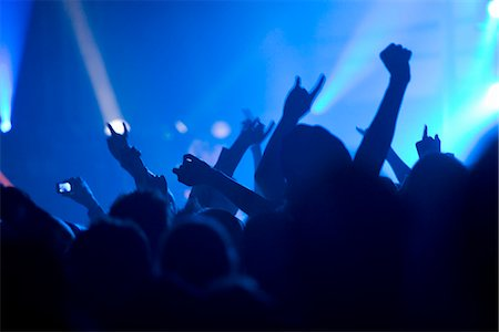 Audience under a music concert. Stock Photo - Premium Royalty-Free, Code: 6102-03827510