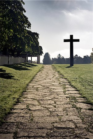 religious cross nobody - Skogskyrkogarden, a cemetery, Stockholm, Sweden. Stock Photo - Premium Royalty-Free, Code: 6102-03904991