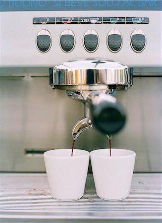 An espresso machine, Sweden. Stock Photo - Premium Royalty-Free, Code: 6102-03905535