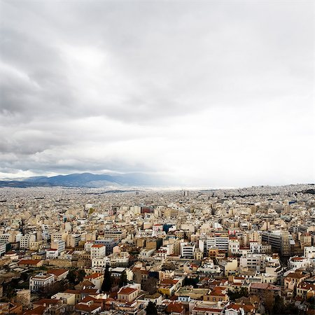 View of a city, Athens, Greece. Stock Photo - Premium Royalty-Free, Code: 6102-03905618
