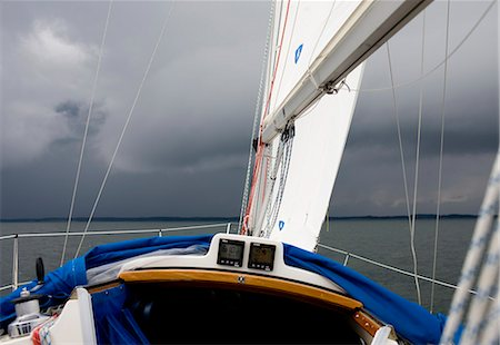 sailing boat storm - Sailing boat in stormy weather Stock Photo - Premium Royalty-Free, Code: 6102-03905706