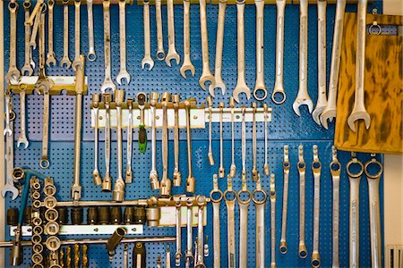 Collection of spanners Stock Photo - Premium Royalty-Free, Code: 6102-04929625