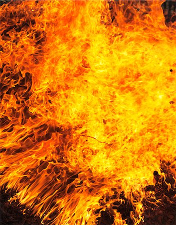 fire - Close-up of burning fire Stock Photo - Premium Royalty-Free, Code: 6102-05603733