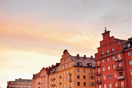 stockholm - Apartment buildings at sunset Stock Photo - Premium Royalty-Free, Code: 6102-05955819