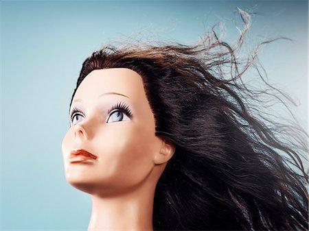 Wig on dressmakers model Stock Photo - Premium Royalty-Free, Code: 6102-06336812