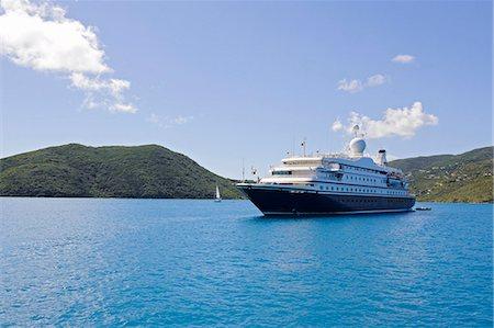 ships at sea - View of cruise ship Stock Photo - Premium Royalty-Free, Code: 6102-06337130