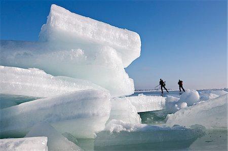 Couple ice skating Stock Photo - Premium Royalty-Free, Code: 6102-06777295