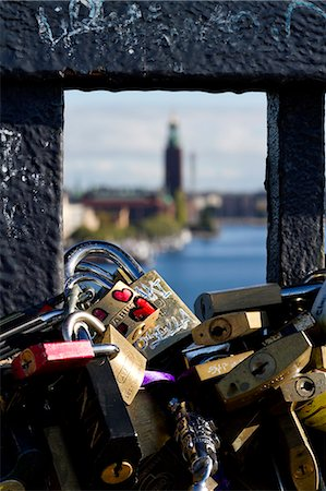 stockholm - Close-up of padlocks Stock Photo - Premium Royalty-Free, Code: 6102-06777410