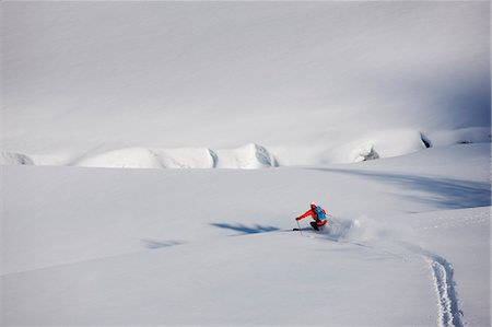 europe - View of person skiing Stock Photo - Premium Royalty-Free, Code: 6102-06777758