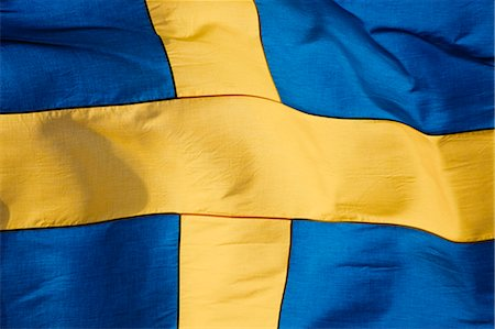 stockholm - Swedish flag, close-up Stock Photo - Premium Royalty-Free, Code: 6102-06965606
